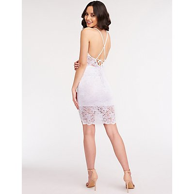 Lace Mini Bodycon Dress