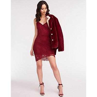 Lace Mini Bodycon Dress