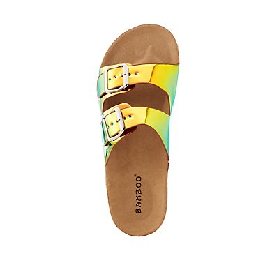 Bamboo Neon Two Band Sandals