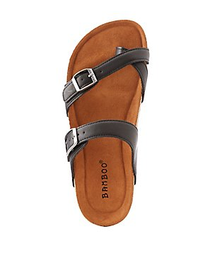 Bamboo Band Buckle Sandals