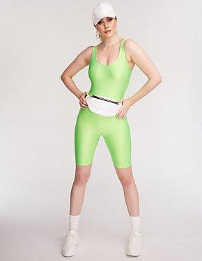 Neon Bike Short Romper