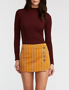 Asymmetrical Button Up Skort