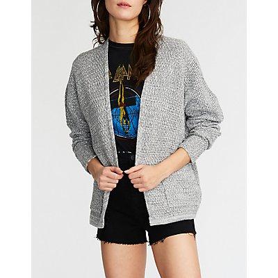 Textured Knit Boyfriend Cardigan