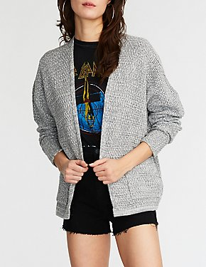 Textured Knit Boyfriend Cardigan