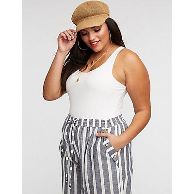 Plus Size Sleeveless Bodysuit