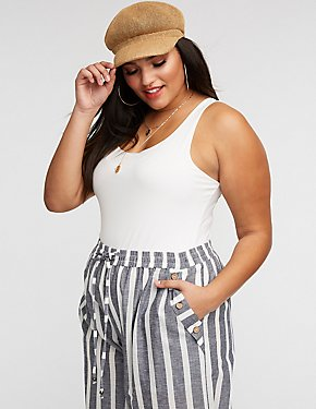 Plus Size Sleeveless Bodysuit