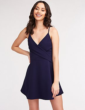 Crisscross Skater Dress