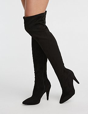 379173c08e7 Over The Knee Pointed Toe Boots