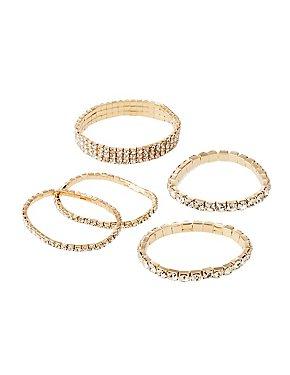 Crystal Stretch Bracelet - 5 Pack