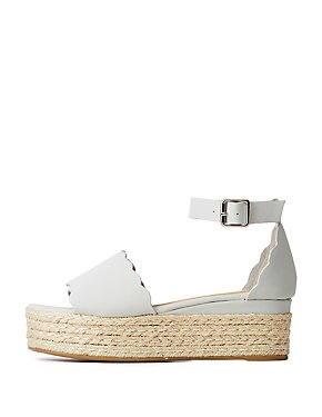 Scalloped Espadrille Sandals