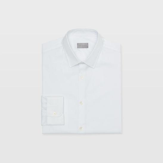 Men Dress Shirts Stretch Poplin Dress Shirt Club Monaco