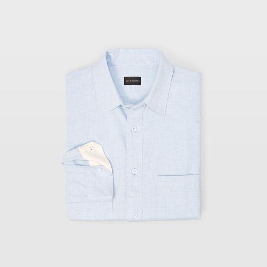 Mens Solid Long Sleeve Work Shirt Club Monaco