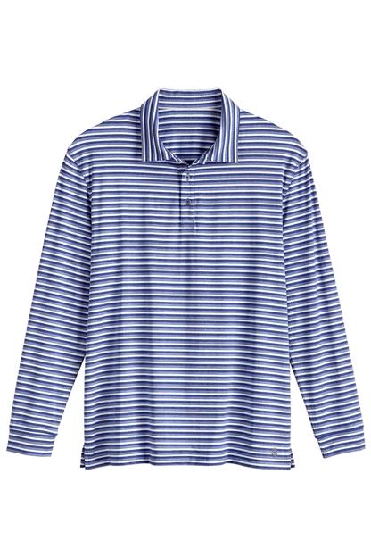 Long sleeve golf polo sun protective clothing coolibar for Sun protection golf shirts