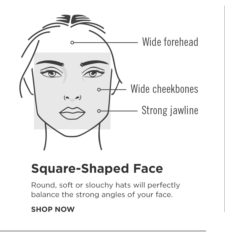 How to find your perfect hat - Square Shape Face