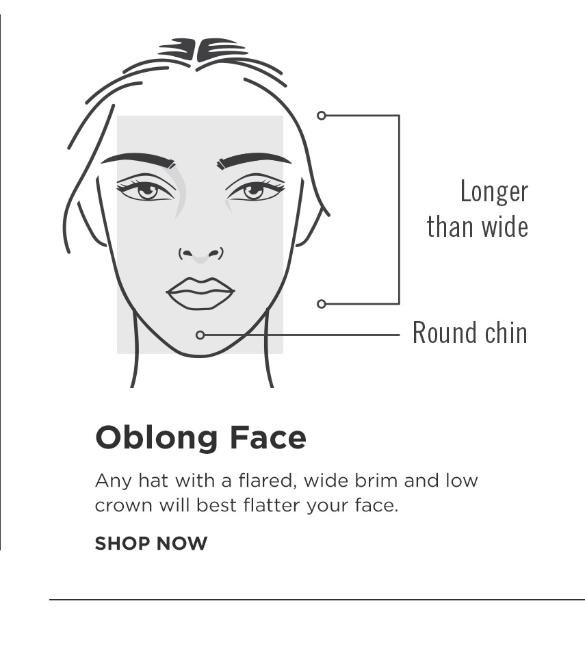 How to find your perfect hat - Oblong Shape Face