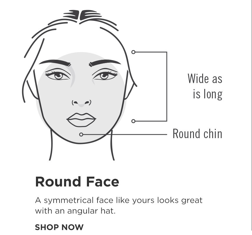 How to find your perfect hat - Round Shape Face