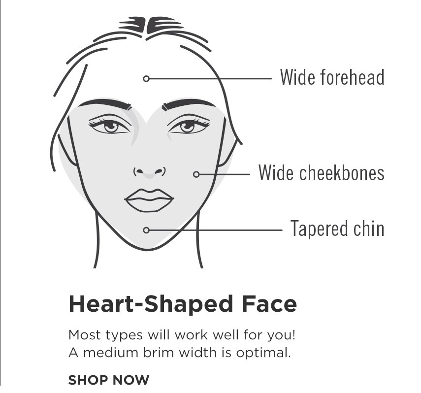 How to find your perfect hat - Heart Shape Face