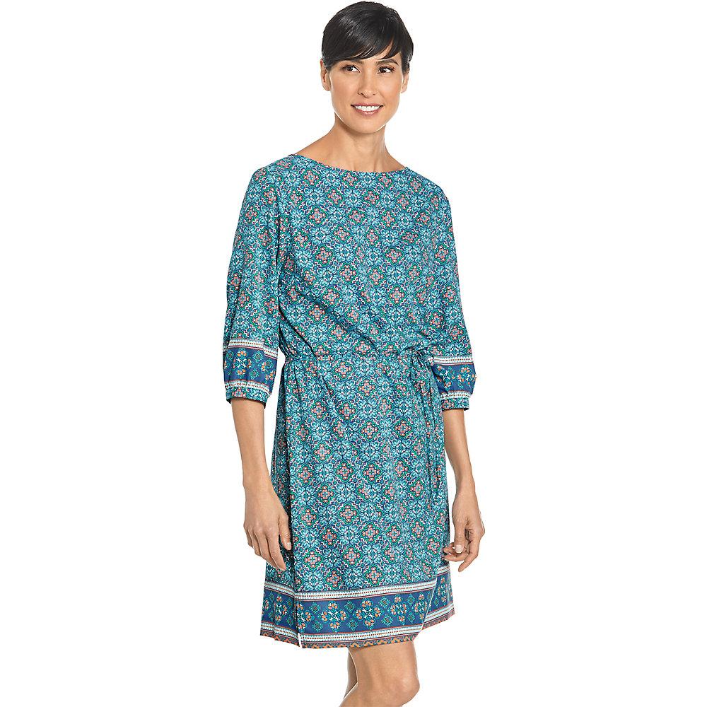 Coolibar UPF 50 Women\'s Garden Party Dress Regular X-small Blue ...