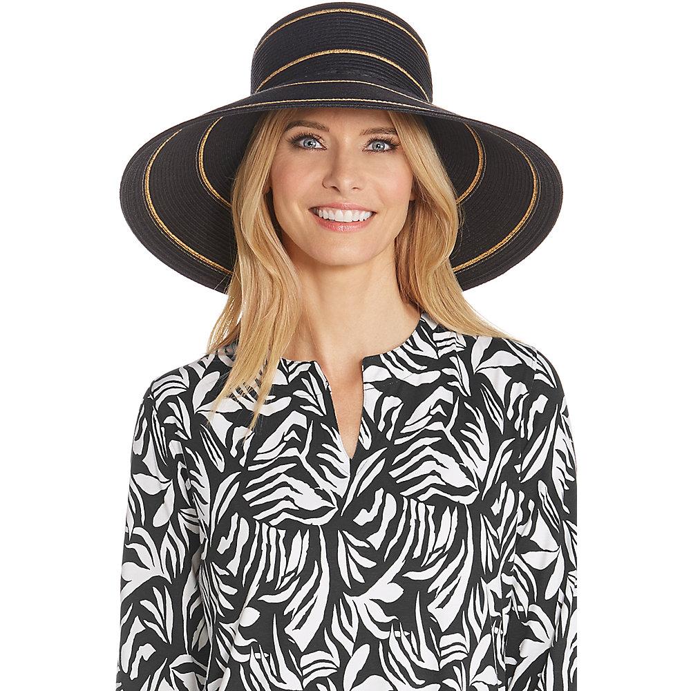Details about Coolibar UPF 50+ Women s Wide Brim Beach Hat 11c353885b56