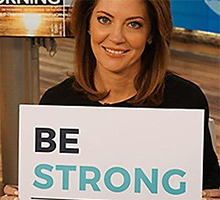 CBS Evening News anchor Norah O'Donnell supporting This is Brave