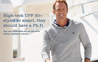 High-tech UPF 50  styles so smart, they should have a Ph.D.