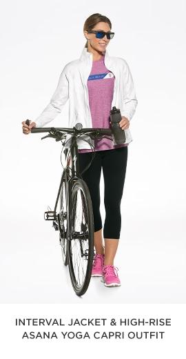 Interval Jacket & High-Rise Asana Yoga Capri Outfit