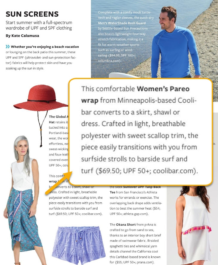1d2eb6289 Media Relations & Press Releases: Sun Protective Clothing - Coolibar ...