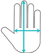 glove size icon