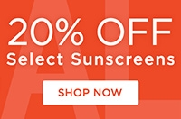 20% off select sunscreens