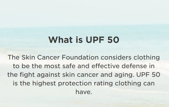 What is UPF 50+