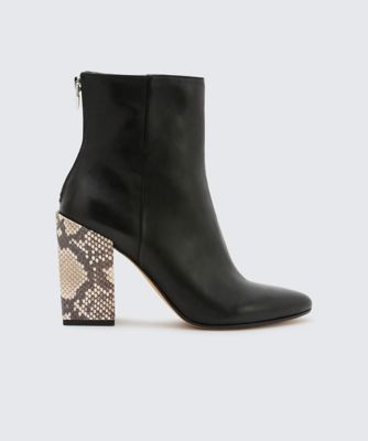 Dolcevita booties coby black side
