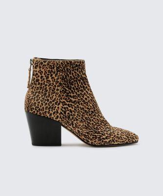 Dolcevita booties coltyn leopard side