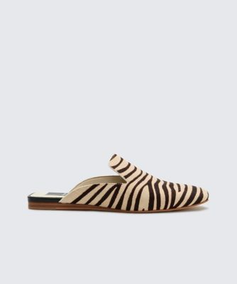 Dolcevita flats brie zebra side