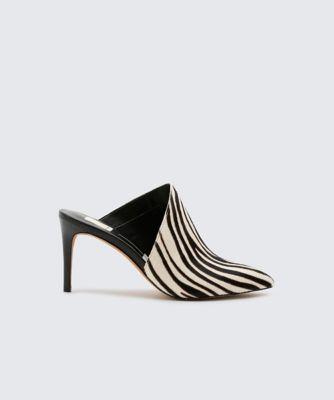 Dolcevita heels camala zebra side