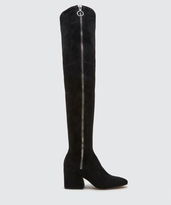 VIX OVER-THE-KNEE BOOTS BLACK