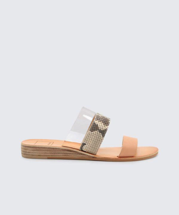 Dolce Vita Snakeskin & Jute Sandals outlet best seller d2HYMoM