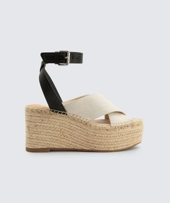 Dolcevita wedges carsie natural side