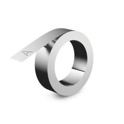 IND Embossing Niet-klevend Aluminum label, 12mm x 4m