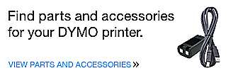 Find parts and accessories for your DYMO printer.