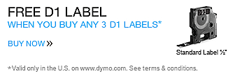 Buy 3 D1 Labels Get a 1/2