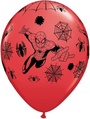 Pack 6 globos de Spider-Man