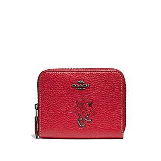 Coach Porte-monnaie à motif Minnie Mouse rouge