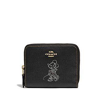 Coach Porte-monnaie à motif Minnie Mouse noir