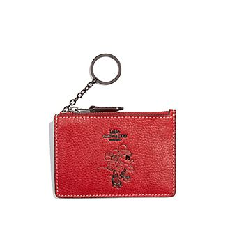 Coach Porte-cartes à motif Minnie rouge