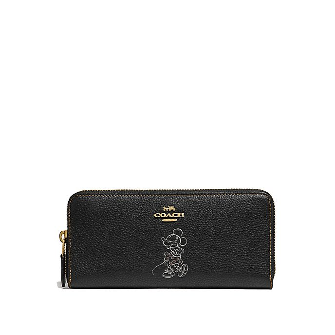 Coach Minnie Mouse Motif Black Wallet