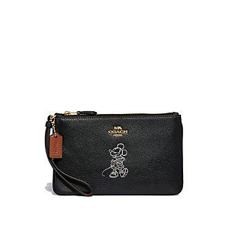 Coach pochette noire à motif Minnie Mouse
