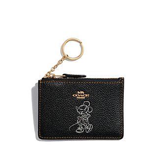 Coach Porte-cartes à motif Minnie Mouse noir