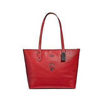 Bolso tote rojo con motivos Minnie, Coach