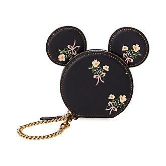 Cartera tipo monedero flores Minnie Mouse, COACH