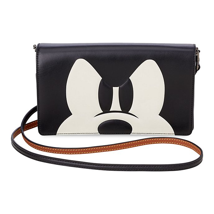 COACH Mickey Mouse Foldover Crossbody Clutch